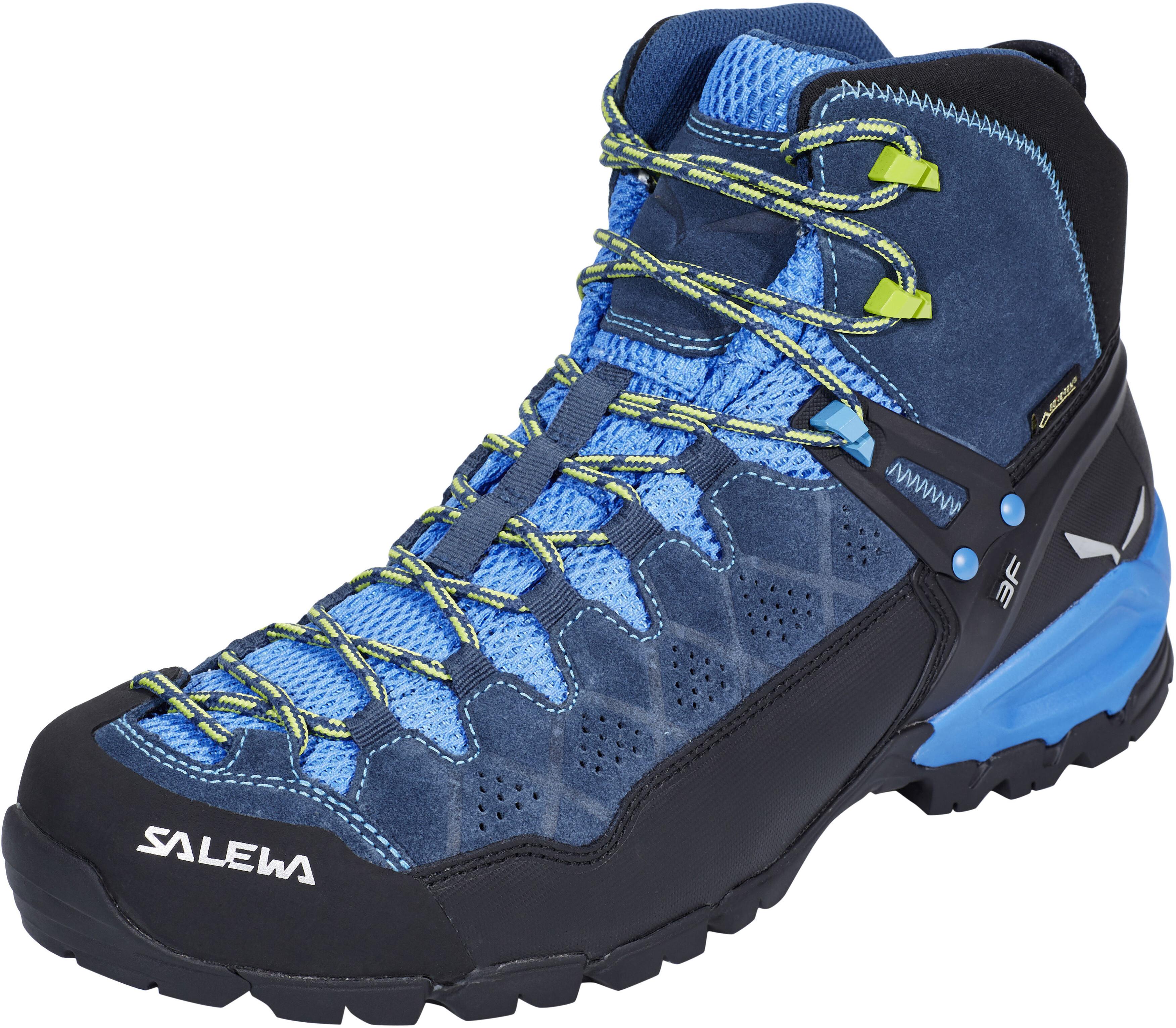 2d8174d3ccff1 Salewa Alp Trainer Mid GTX - Chaussures Homme - bleu sur CAMPZ !